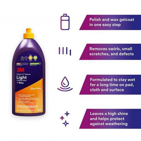 3M™ Perfect-It™ 36110E Gelcoat Light Cutting Polish + Wax