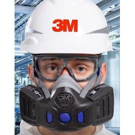 3M™ Secure Click™ HF-802SD Half Mask Respirator with Speaking Diaphragm