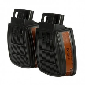 3M™ Secure Click™ D8051 A1, Organic Vapors Dual Flow Filters
