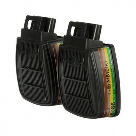 3M™ Secure Click™ D8059 ABEK1,Gas and Vapour Dual Flow Filters
