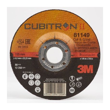 3M™ Cubitron™ II Cut and Grind Wheel