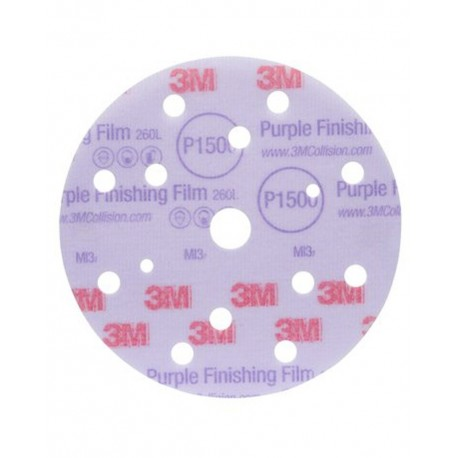 3M™ Hookit™ 260L Purple Finishing Film Abrasive Disc